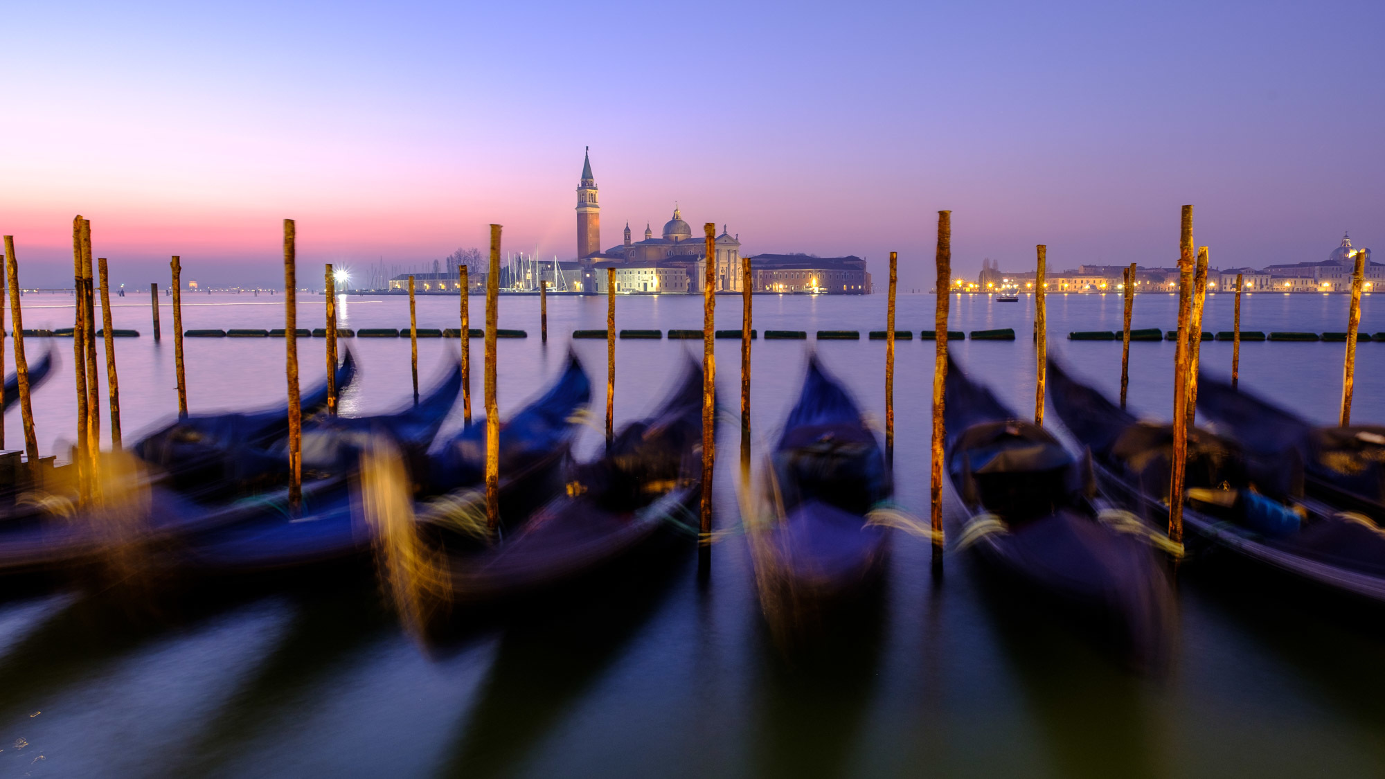 Gondolas in St. Mark's Square, Venice